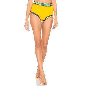 Ro High Waisted Bikini Bottom Dark Yellow & Multi
